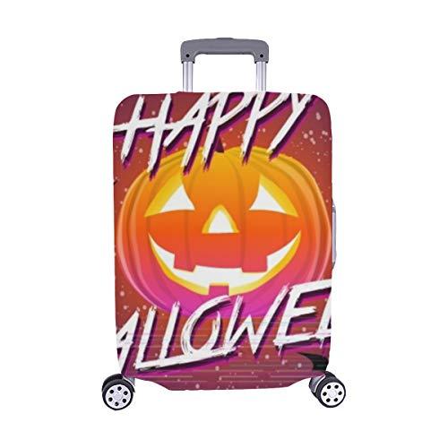 (Nur abdecken) Happy Halloween typografische Kürbis Scary Staubschutz Trolley Protector case Reisegepäck Schutz Koffer Cover 28,5 X 20,5 Zoll