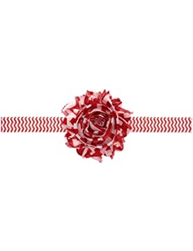 Zhhlaixing Christmas Baby Girls Toddler Kids Stretch Chiffon Flower Headband Hairband Hair Accessories for Photography...