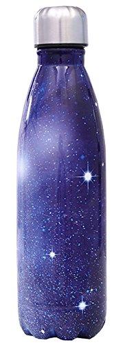 HUIMEIDE Edelstahl Trinkflasche Camo Galaxie Farbige Zeichnung Wasserkocher Edelstahl Sport 500ML Wasserflasche Schulbedarf Wasserflaschen(Galaxie 4) Galaxy Camo