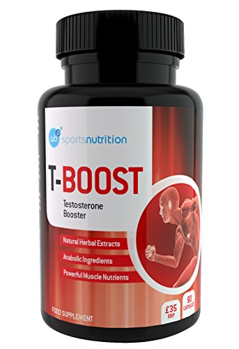 WBP T-Boost Anabolika Testosteron Booster für Männer - Stärkste Legale Extrakte für Massive Zunahme der Muskelmasse und Kraft - Verbessert das Level der Energie, der Libido und der Fruchtbarkeit - 90 vegetarische Kapseln