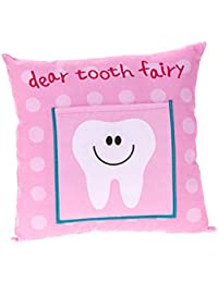 Enfants's Boys/ Girls Tooth Fairy Money Pillow Cushion avec Note/ Letter Pocket -Rose