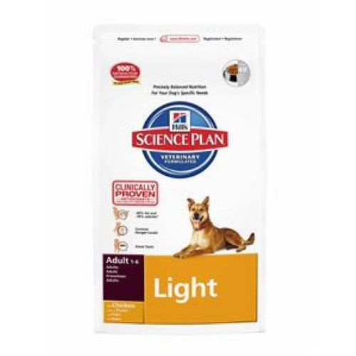 Science Plan Canine Adult Light Medium mangime Secco Pollo 12kg