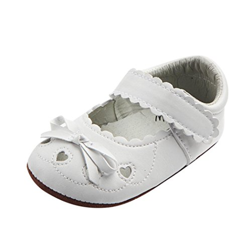 (MEIbax Babyschuhe Taufschuhe Krabbelschuhe Weiche Sohle Schnüren Weiße Schuhe Baby Taufe Kleinkind Solekleinkind Krippeschuhe für Mädchen)