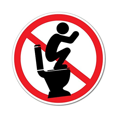 Do Not Stand On Toilet Seat Sticker Decal Safety Sign Car Vinyl
