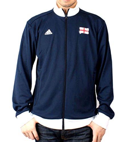 adidas Herren England Track Jacke Navy Blau, Colligate Navy/Running White, Large England Track Jacket