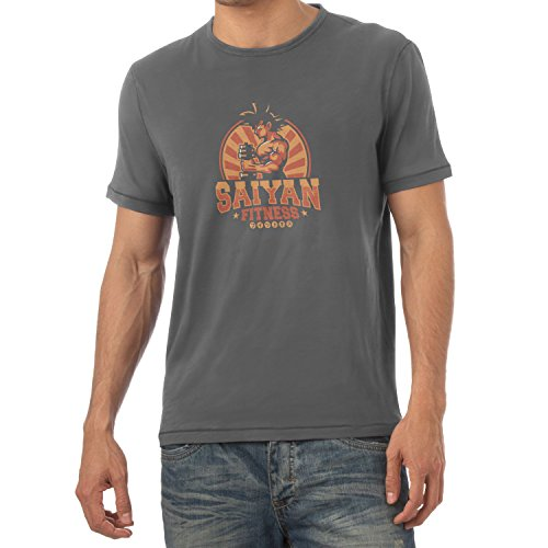 TEXLAB - Saiyan Fitness - Herren T-Shirt Grau