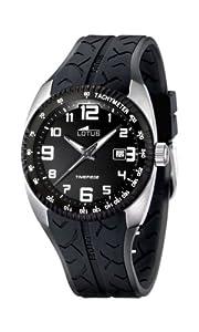 Reloj Lotus 15568/3 de cuarzo para hombre con correa de caucho, color negro de Lotus
