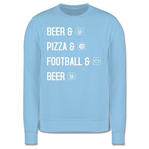 Sonstige Sportarten - Beer Pizza Football Beer - Herren Premium Pullover Hellblau