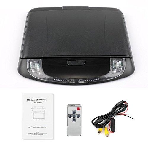 DERNON 9 Zoll 800 * 480 LCD-Farbmonitor für Autodachmontage Flip-Down-Bildschirm Multimedia Schwarz -