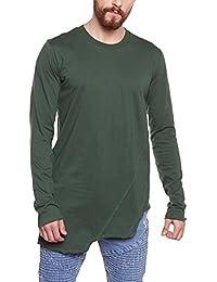 FUGAZEE Men's Pleated Long-Sleeve T-Shirt
