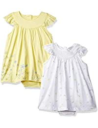 Mothercare Baby Girls' A-Line Knee-Long Dress (Pack of 2)