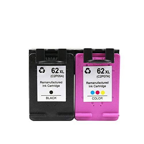 GY Ersatz für HP 62 Tintenpatronen High Yield Kompatibel mit HP Officejet 200 258 5540 5542 5640 7640 Inkjet Druckerpatrone, First-Class-Tinte zu einem günstigen Preis vs Marken-Namen-Black+Color