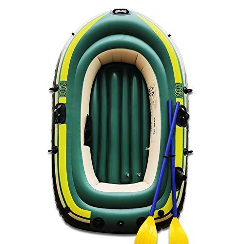 MX kingdom Bote Inflable, Kayak de Tres Personas con remos, Asiento Desmontable,...
