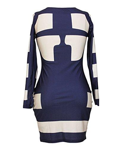 Dissa® femme Bleu SY21906L mini robe Bleu
