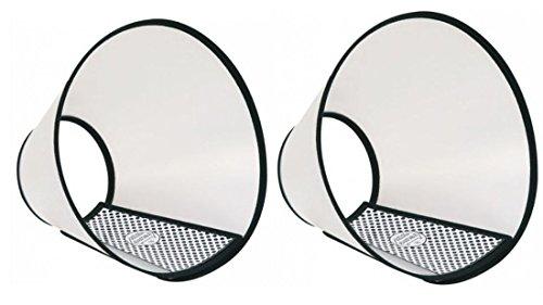 2 x Halskragen mit Klettverschluss Tiefe 25 cm, Halsumfang ca. 40 - 50 cm