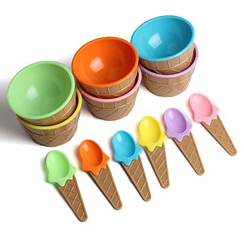 WOVELOT L?ffel Für Eisbecher Mit A L?ffel 6Pc Kinder Eisbecher Eisbecher Paare Schüssel Geschenke Dessert