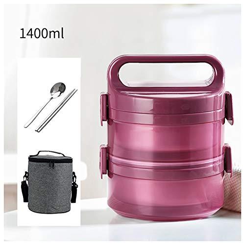 Thermos per alimenti, contenitore termico per alimenti isotermico acciaio inossidabile, thermos scatola per bambini adulto con cucchiaio,viola,2layers