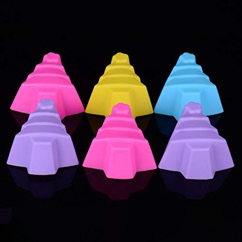 xinyus Stilvoll 6Pcs DIY Weihnachten Serie Silikonform Muffin Candy Jelly Fondant Kuchenform Backen Werkzeug für Heim Dekoration - 6pc Weihnachtsbaum