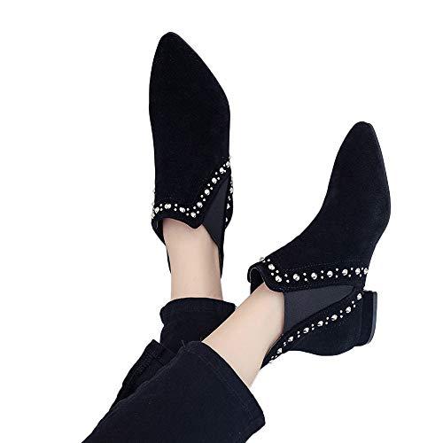 TianWlio Boots Stiefel Schuhe Stiefeletten Frauen Herbst Winter Klassischer Scrub Flat mit...