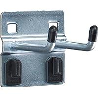bott perfo Doppelhaken, Länge 50 mm, mit Doppelaufnahme für Lochplatten, 5 Stück, 14002039