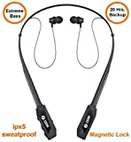 Zoook Jazz Claws Bluetooth Neckband with mic with 20 Hrs. Backup - Heavy