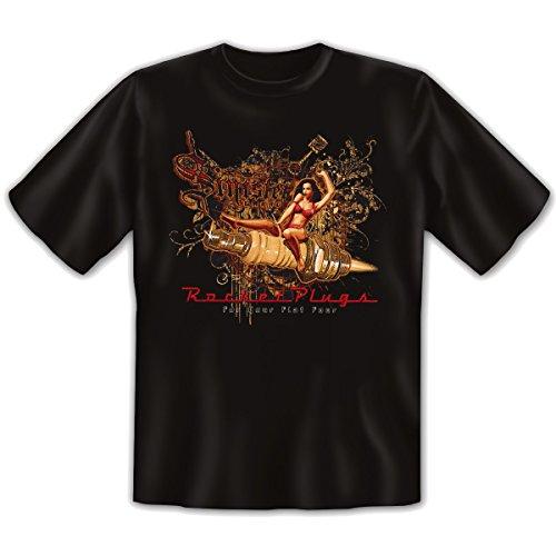 Cooles Shirt für Oldtimerfans: Sinister Garage Rocket Plugs - T-Shirt schwarz Schwarz