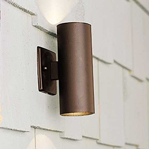 Kichler Lighting 15079AZT Up/Down Accent 12-Volt Deck and Patio Light, Textured Architectural Bronze by Kichler Lighting