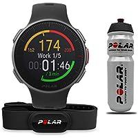 POLAR Vantage V HR Profi-Multisportuhr mit GPS Pulsuhr, Schwarz, M/L, Aktion inkl. Polar Trinkflasche und H10 Herzfrequenzgurt