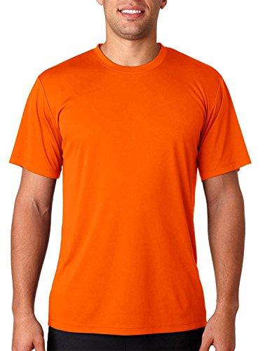 Hanes HanesApparel Men's Cool Dri UPF 50 Moisture Wicking T-Shirt, Safety Orange, Small (Wick Cool-dri)