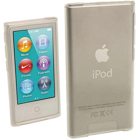 igadgitz Claro Case TPU Gel Funda Cover Carcasa para Apple iPod Nano 7ª Gen 7G 16GB + Protector de pantalla
