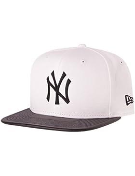 New Era cappellino con visiera–Gomma NY Yankees bianco