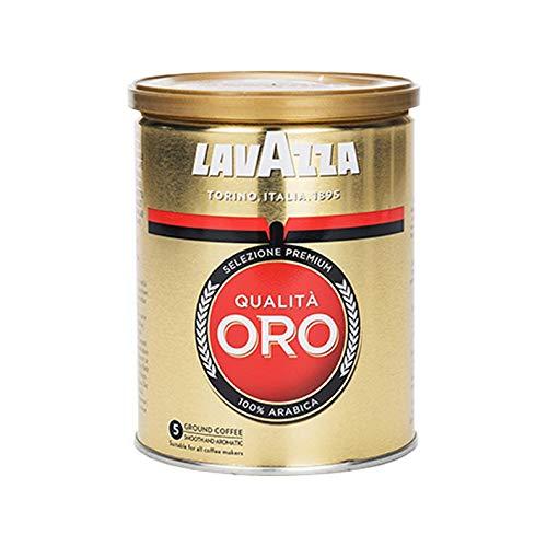 Lavazza Kaffee Qualita Oro, Espresso Arabica Röstkaffee, Bohnenkaffee gemahlen, Filterkaffee, 250g Dose