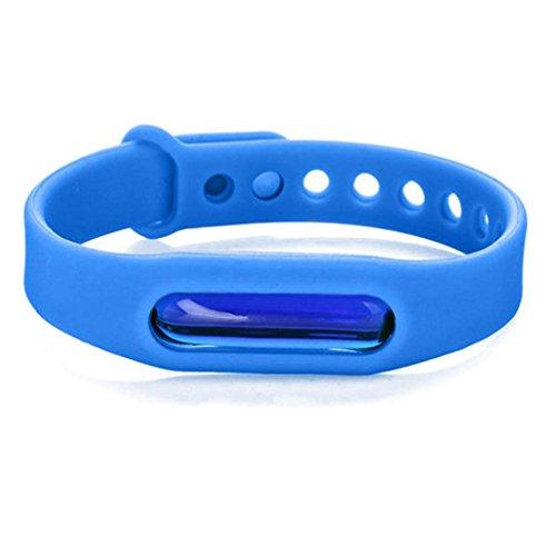 Mückenschutz Armband, ADESHOP Anti Mosquito Pest Insekt Bugs Repellent Repeller Armband Armband Armband (Blau) (Repeller Bug Elektrische)