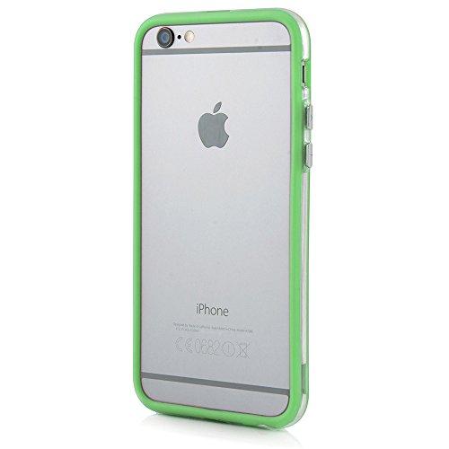 Bumper Case Cover für Apple iPhone 6 / 6s Plus (5,5 Zoll) - Schutzhülle für den Rand aus PC mit Dämpfern aus Silikon in hellblau macht den Rahmen besonders leicht und dünn - iPhone6/6s Plus Hülle Tasc grün