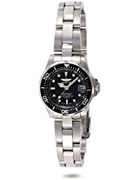 Invicta Pro Diver Women's Wrist Watch Stainless Steel Quartz Black Dial - 8939