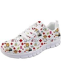 d259e7e54b5deb Nopersonality Cartoon Nurse Bear Krankenschwester Schuhe Sportschuhe  Sneaker Damen EU 36-43