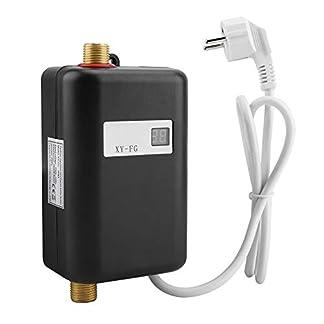 Zerodis Mini calentador de agua, 3800W 220V Calentador de agua instantáneo eléctrico Sistema de agua caliente de la ducha sin tanque para Cocina Baño