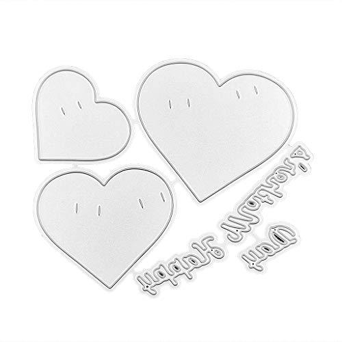 (Pennyninis Karbonstahl, Muttertags-Herz-Banner zum Stanzen, Prägung, Schablone zum Basteln, Papierkunst, Scrapbook, Lesezeichen, Kartendekoration)