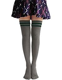 Homingg Knee High Socks 1 Paar Frauen-Streifen-Schlauch-Kleider Overknee-Schenkel-hohe Str/ümpfe Cosplay Socken