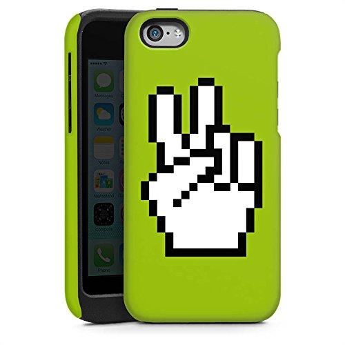 Apple iPhone 5s Housse Étui Protection Coque Peace 8 bit Paix Peace Cas Tough brillant