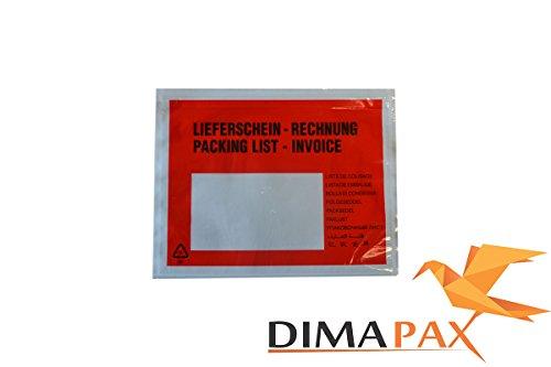 4000Buste bolla di consegna C6Bedruckt/Rosso mehrsprachig fattura dimapax