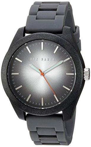 Ted Baker 10024793 - Reloj de pulsera hombre, Silicona, color Gris