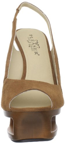 Pleaser Day & Night DELUXE-653 Damen Plateau Slingpumps Brown Suede
