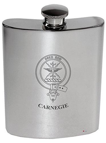 carnegie-family-crest-6oz-polished-pewter-kidney-flask