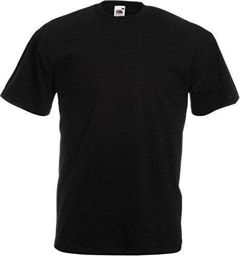 Bereich Herren T-shirt (10er Pack Valueweight Fruit of the Loom T-Shirt Größe S - 5XL T-Shirts in vielen Farben XXXXL / 4XL,schwarz)