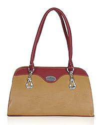 Fantosy Women's Handbag Beige and Maroon (FNB-577)