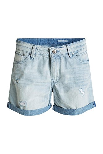 edc by ESPRIT Damen Short Blau (BLUE LIGHT WASH 903)