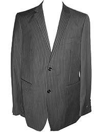 Unknown - Veste de costume - Homme noir Black Pinstripe 50