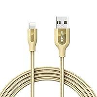 Anker PowerLine+ Lightning Cable, 10ft - Golden
