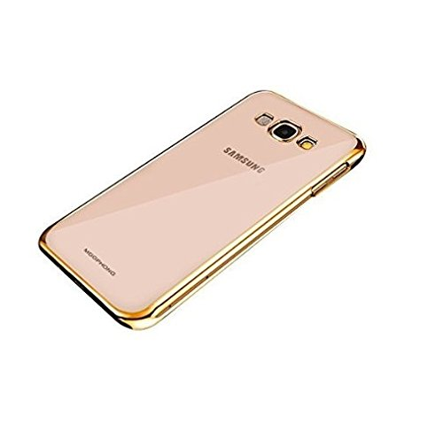 WebKreature Gold Bumper with Silicone Transparent Back Cover for Samsung Galaxy Grand 2 (SM-G7102)